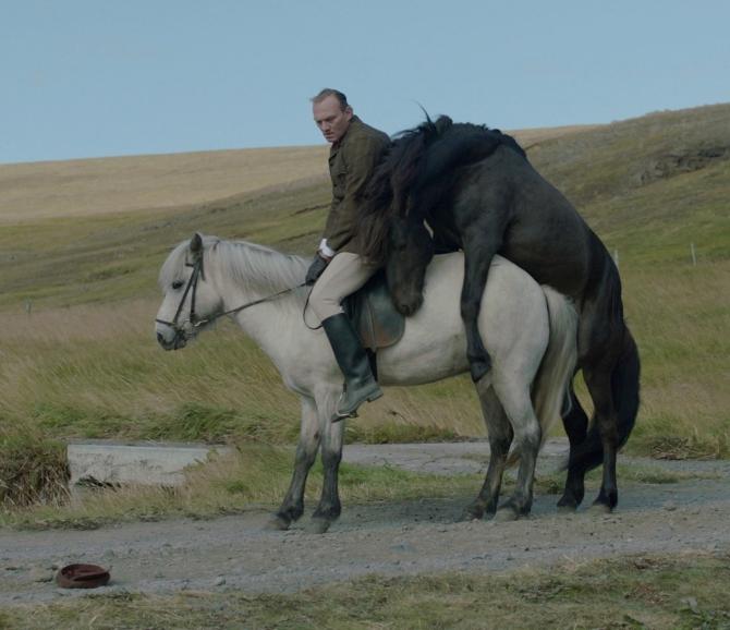 A scene from Benedikt Erlingsson's OF HORSES AND MEN.