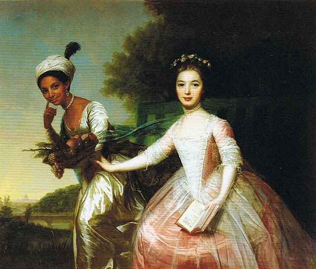 Painting from 1779 of Dido Belle, with her cousin Elizabeth, attributed to Johann Zoffany.