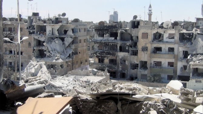 A scene from Talal Derki's RETURN TO HOMS.