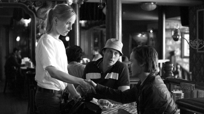 Julika Hoffmann (Friederike Kempter), Matze (Marc Hosemann) and Niko Fischer (Tom Schilling) in A COFFEE IN BERLIN. Courtesy of Music Box Films.