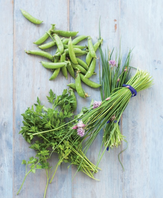 Afro Sugar Snap Peas with Spring Herbs