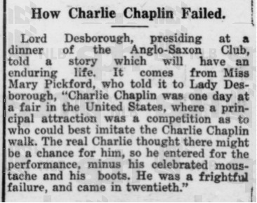 Chaplin how chaplin failed
