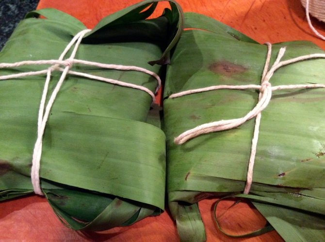 PM Tamales wrapped for steaming