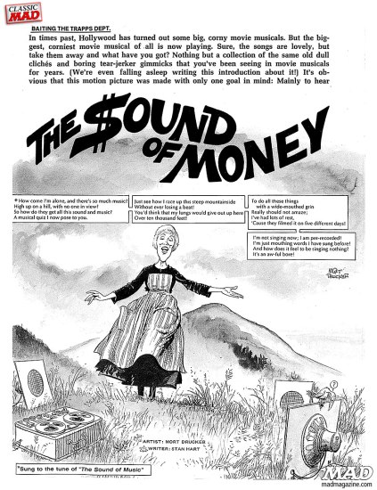 Parody of THE SOUND OF MUSIC by MAD Magazine