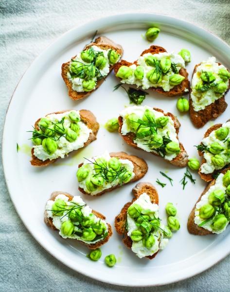 VIBF Fresh Chickpeas on Toast image p 12