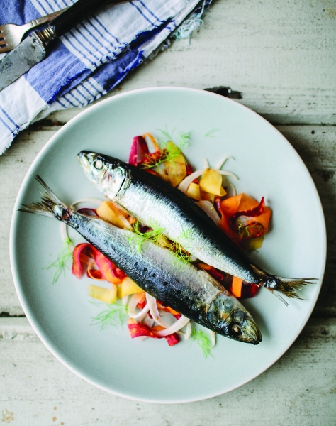 VIBF Roasted Sardines with Carrot Fennel Slaw image p 30