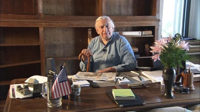 Gore Vidal in Nicholas Wrathall's GORE VIDAL: UNITED STATES OF AMNESIA.  © 2013 Amnesia LLC.  A Sundance Selects Release.