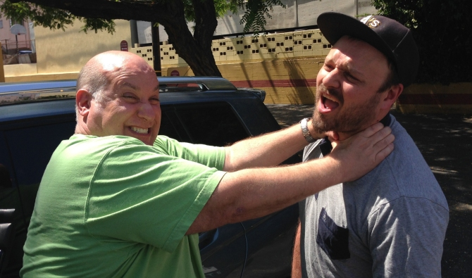 Jesse Hawthorne Ficks, being choked by William Lustig