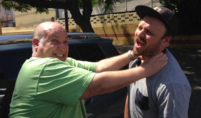 Jesse Hawthorne Ficks, being choked by William Lustig