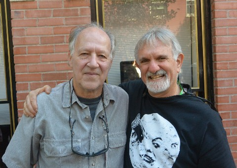 Werner Herzog and Gary Meyer, at this year's Telluride Film Festival. Photo by Leonard Maltin.