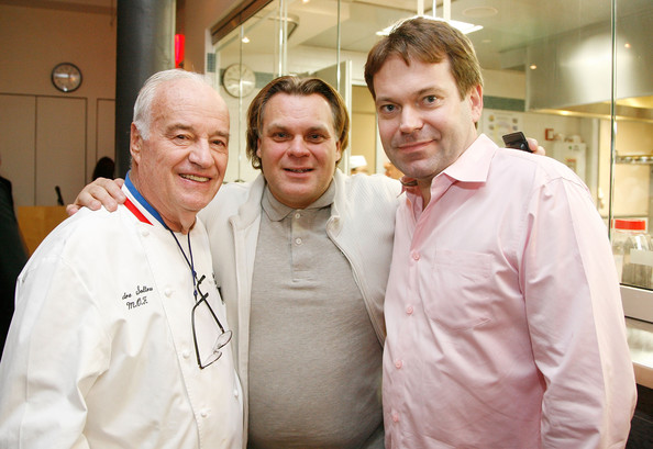 Andre Soltner (center) at the International Culinary Center. Credit: Amy Sussman/Getty Images