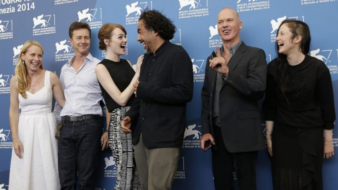 BIRDMAN director and cast at Venice Film Festival Premiere.
