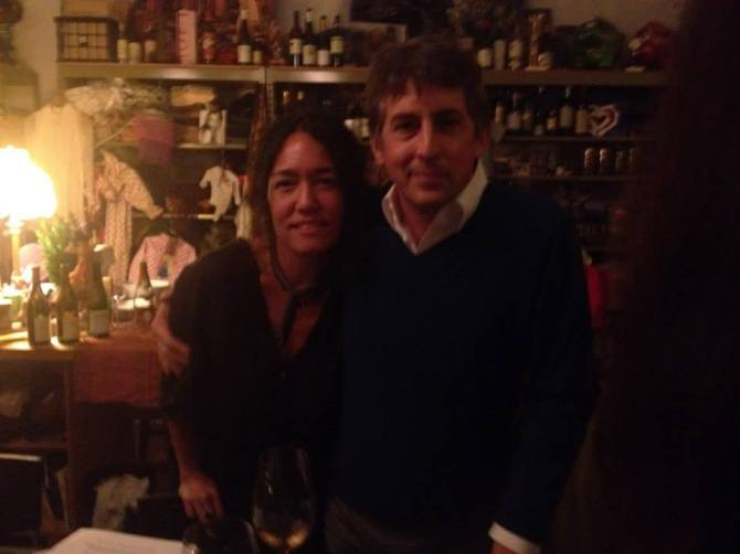 Cari Borja and Alexander Payne at 35th salon dinner