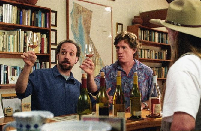 Miles (Paul Giamatti) and Jack (Thomas Haden Church) in Alexander Payne's SIDEWAYS