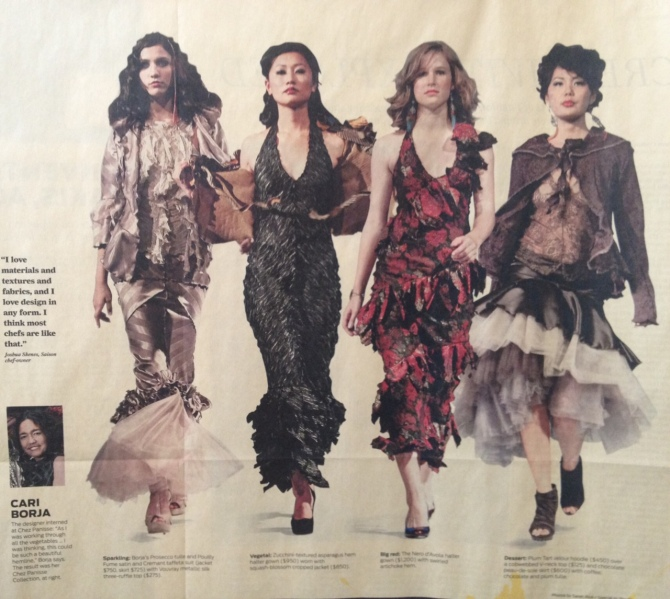 Chez Panisse Collection on the runway, San Francisco Chronicle. 2011