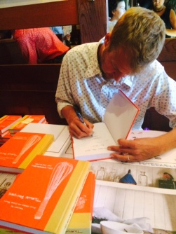Cal Peternell at his book signing at Chez Panisse; Sunday, October 26, 2014