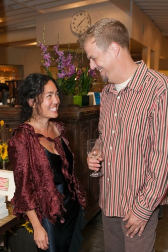 Cari Borja and Cal Peterness at the Chez Panisse Collection exhibit at The Gardener in Berkeley. Credit: Drew Altizer