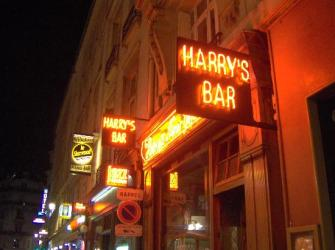 Exterior of Harry's New York Bar.