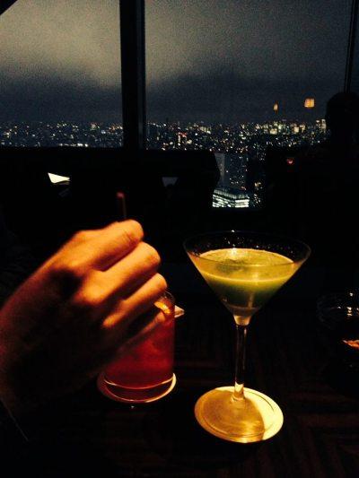 Cocktails at the Park Hyatt, Tokyo, October 2013. Photo by Cari Borja.