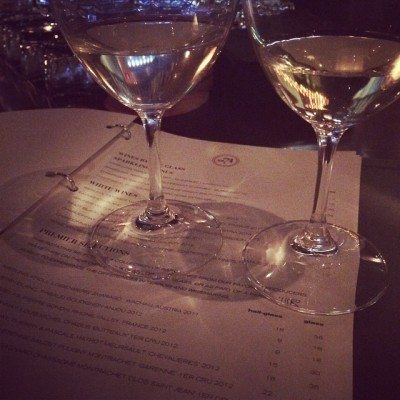 Drinking Meursault at RN74. Photo by Cari Borja.
