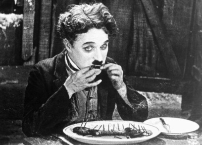Still from Charlie Chaplin's The Gold Rush (1925).