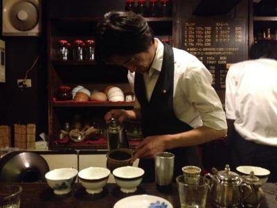 Brewing coffee in Tokyo, October 2013. Photo by Cari Borja.