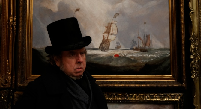 Timothy Spall as J.M.W. Turner in Mr. Turner . (Photo by Simon Mein.)