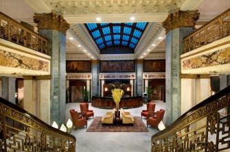 Lobby of Seelbach Hilton.