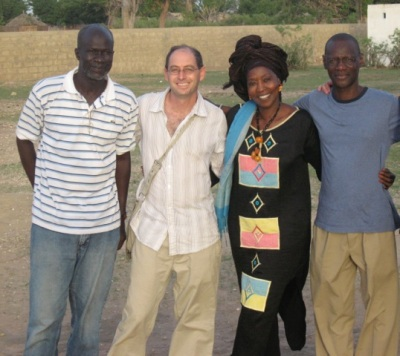 Makhete Diallo (technician on Sembène's films), Jason Silverman, Fatoumatah Coulibaly (lead actress in Moolaade ), and Samba Gadjigo.