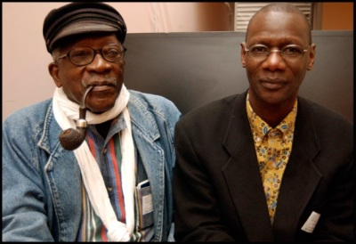 Caption: Samba Gadjigo and Ousmane Sembène. (Photo by Lisa Carpenter.)