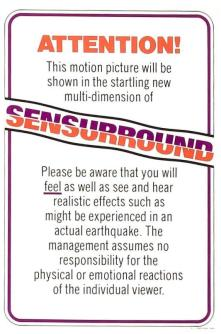Sensurround notice