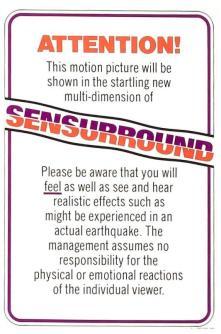 Sensurround notice