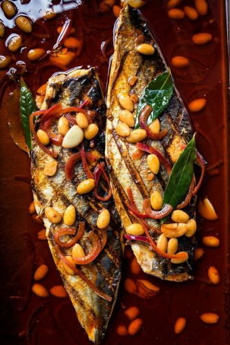 Mackerel Escabeche. Photo by Eric Wolfinger