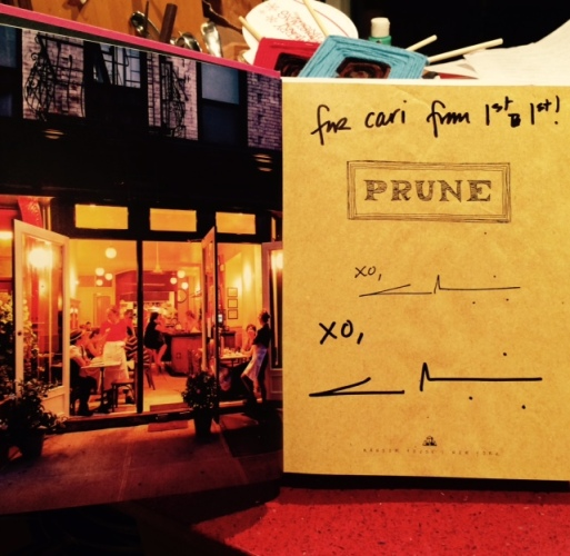 "Signed copy of ""Prune,"" with Eric Wolfinger's photo of the space. Photo by Cari Borja"