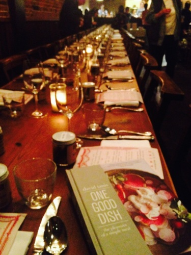 "Book-signing dinner for ""One Good Dish"" by David Tanis. November 13, 2013. Photo by Cari Borja"
