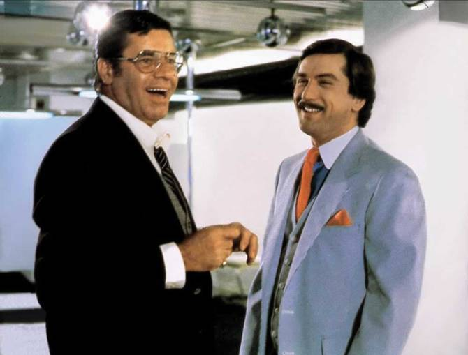 Still of Jerry Lewis and Robert De Niro in The King of Comedy .