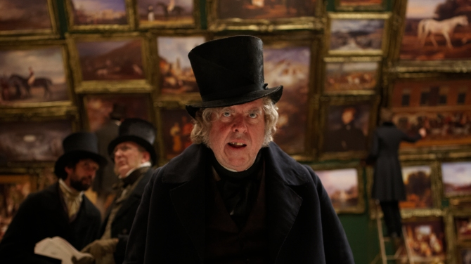 Timothy Spall as J.M.W. Turner in Mr. Turner (Photo by Simon Mein.)