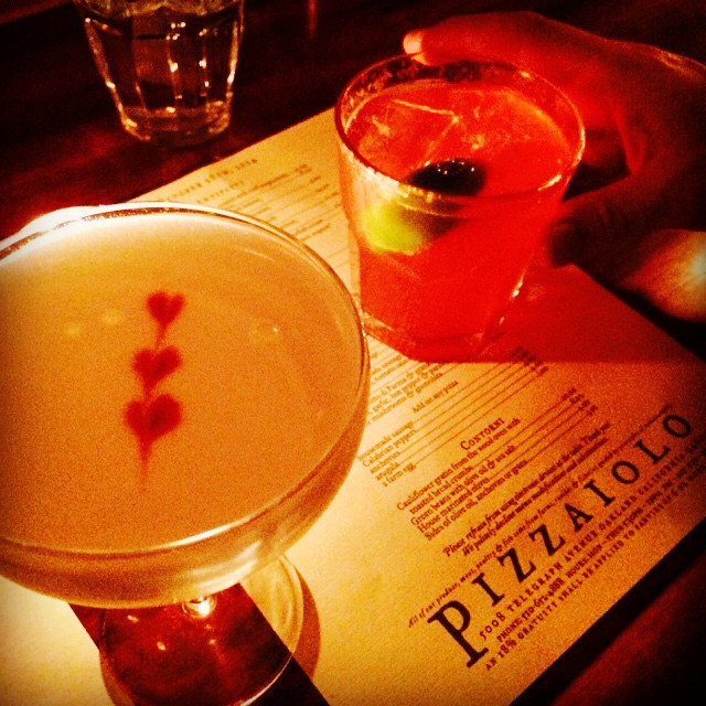 Caption: Post-Chez Panisse cocktails at Pizzaiolo (followed by The Alley).