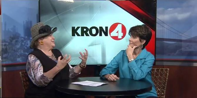 Jan interviews Lucie Arnaz on KRON-TV.
