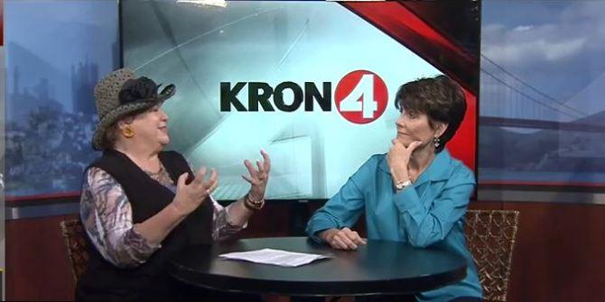 Jan interviews Lucie Arnaz on KRON-TV.