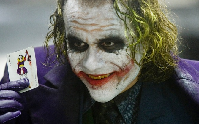 Don't invite Heath Ledger's Joker to dinner.