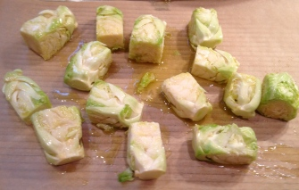 Brussels Sprouts Cubed