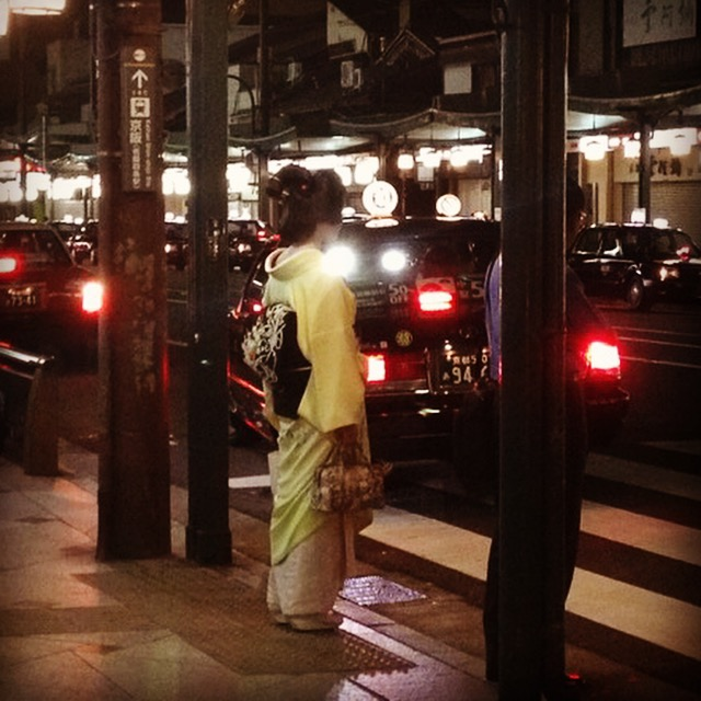 My first Geisha sighting. Kyoto, Japan. October 2013.