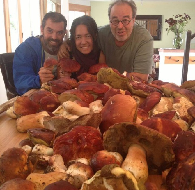 Our mushrooms—with Charlie Hallowell and Angelo Garro. Telluride, CO. 2013.