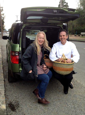 Connie Green with Thomas Keller. Credit: Connie Green.