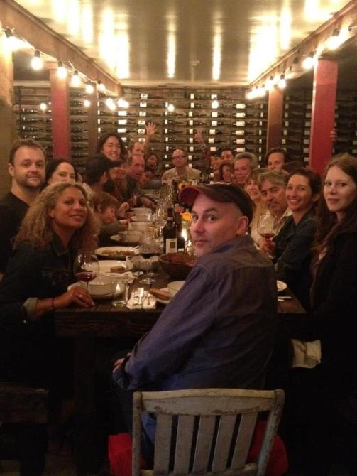Our table, with guests Lloyd Bernberg, Jennifer Jones, Stu Maschwitz, Susanne Kauer, Julian, Daniel Patterson, Leif Hedendal, Patricia Buse, Chad Arnold, Joey Xanders, Ludi, Christopher Willits, Carla Swanson, Stephan Schindler, Michelle Stock, Hector Corral, Pamela Esterson, Stephen Singer, Andrew Mariani, Chrissy Loader, Lorenzo Scarpone, Emily Schindler, Alexandra Foote, Louise, August, and Royal.