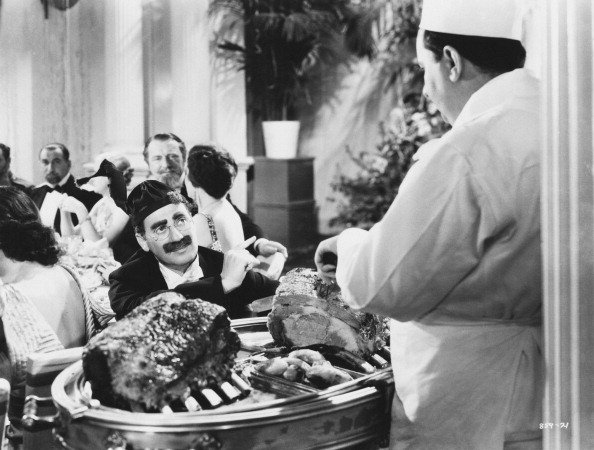 Groucho Marx as Otis B Driftwood, in a scene from A Night at the Opera (1935). Credit: MGM Studios/Archive Photos/Getty Images.