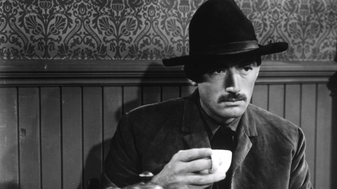 Black coffee and bullets: Gregory Peck in 1950's The Gunfighter .