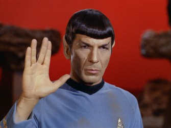 The man, the character: Leonard Nimoy as Spock.