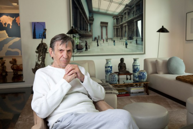 Leonard Nimoy at home in Bel Air in 2014. Credit: Thomas Struth/Wall Street Journal